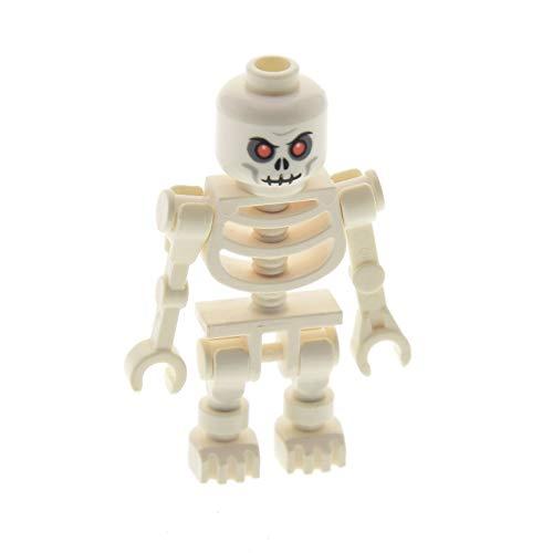 1 x Lego System Figur Skelett weiss Kopf mit finsteren roten Augen Fantasy Era - Skeleton Warrior 2 60115 6266 3626bpb0269 59230 cas328