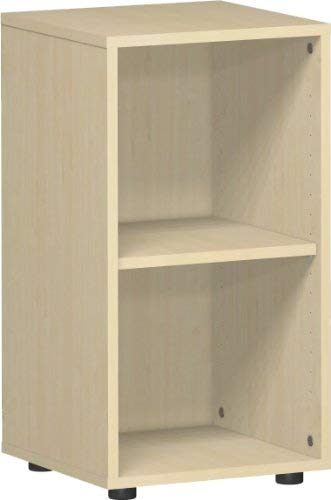 Gera Möbel S-342001-AH Regal Mailand 2 OH mit Standfüßen, 40 x 40 x 75,2 cm, ahorn -