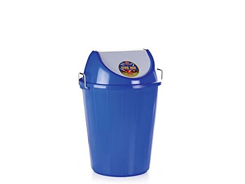 Aristo Swing Lid Garbage Waste Dustbin 32 Ltr (Blue)