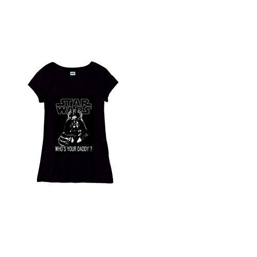 Star Wars Who's Your Daddy Girl-Shirt schwarz L (Shirt Daddys Girl)