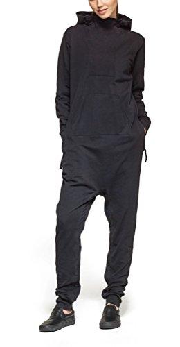 Onepiece Damen Jumpsuit Dodge, Grau (Black), 36 (Herstellergröße: S) - 4
