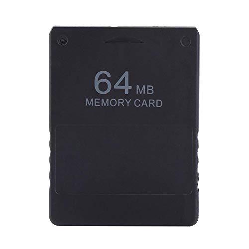 Zerone Almacenamiento de la Tarjeta de Memoria de Alta Velocidad 8-256M  para Juegos de Sony Playstation PS2 (64M)