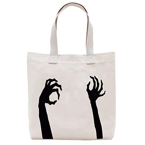 OYZZ Leinwand Tasche Halloween Tasche Tote Bag Eco Taschen Baumwolle Canvas EinkaufstascheHalloween Tasche benutzerdefinierte