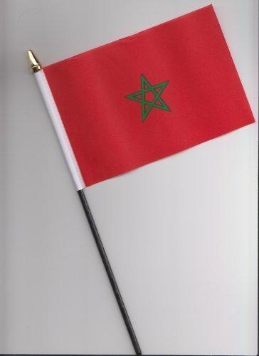 Drapeau Maroc à main 25 cm