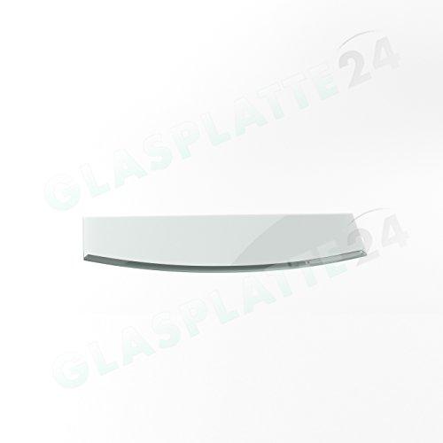 Preisvergleich Produktbild Funkenschutzplatte G30 Segmentbogen ESG 6mm x 500mm x 1000mm mit 18mm Facette Glasplatte Bodenplatte Kaminplatte Funkenschutz Ofenplatte Kaminglas