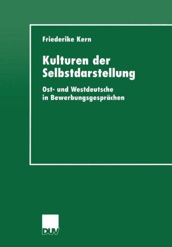 Kulturen der Selbstdarstellung (DUV Sprachwissenschaft)