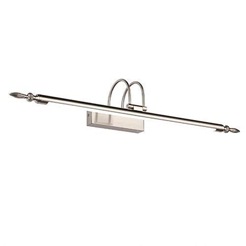 Badewanne, Badezimmer Spiegel Lampen - LED-Beleuchtung integriert Galvanische Funktion für LED Downlight Wand Licht. - Make-up-Spiegel Scheinwerfer (Farbe: Nickel Farbe-66 CM-12 W) -