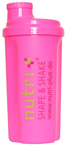 Für Pink Frauen Bodys (Lady-Shaker 500ml - Eiweiß-Shaker für Frauen - Super Pink - BPA-frei - ohne Weichmacher - Nutri-Plus)