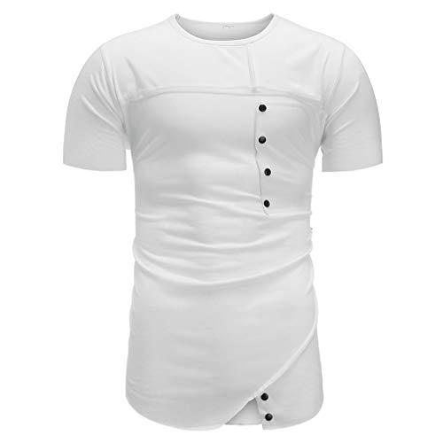 Preisvergleich Produktbild Moserian Herren Summer Unregelmäßiges T-Shirt mit Rundhalsausschnitt und Kurzarm-Fashion-Top