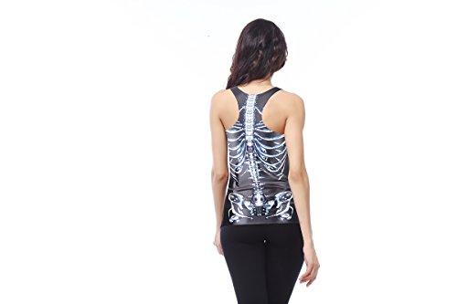 Thenice Damen T-Shirt Skeleton