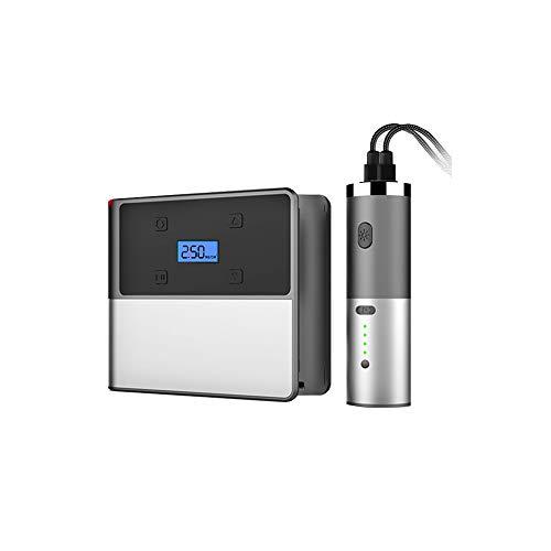 Tragbare Auto-Air Compressor,120W 12V Auto Digital Air Pumpe mit 6000mAh entfernbare LED-Notlichtverfall und Reifendrucküberwachung
