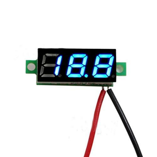 Yalatan Digital Voltmeter/Amperemeter 0.28 inch 3,5-30 V LED Screen Mini Digital Voltage Circuit Tester Meter Electronic Parts Accessories Digital Voltmeter (Led-circuit-tester)