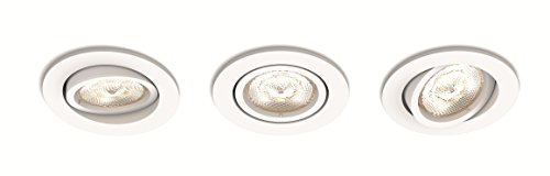 Philips myLiving LED Warmglow Einbauspot Shellbark, 3-flammig, rund, weiß