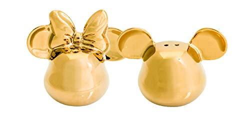 Joy Toy 62151 MICKEY MOUSE DELUXE 3D GOLDIGER SALZ- UND PFEFFERSTREUER gold