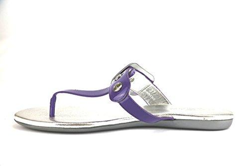 HOGAN sandali donna vernice viola / rosso / azzurro Viola