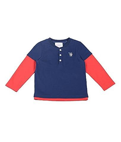 Oceankids Jungen Runder Kragen Langarmshirt / Kinder T-Shirt Langarm Navy