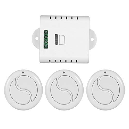 Receptor 1 Canal 3 Interruptor Control Remoto Redondos 433mhz Terminales Kits de Instalación Eléctrica