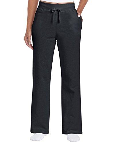 Gildan Damen Open Bottom Sweatpants Jogginghose, schwarz, Groß Womens Open Bottom Sweatpants