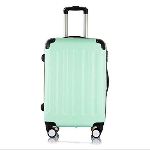 Xiuxiandianju 20 pollici 24 pollici 38 pollici universale ABS asta caso impermeabile usura diversi bagagli valigia bagaglio di viaggio dimensione , green , 28 inch