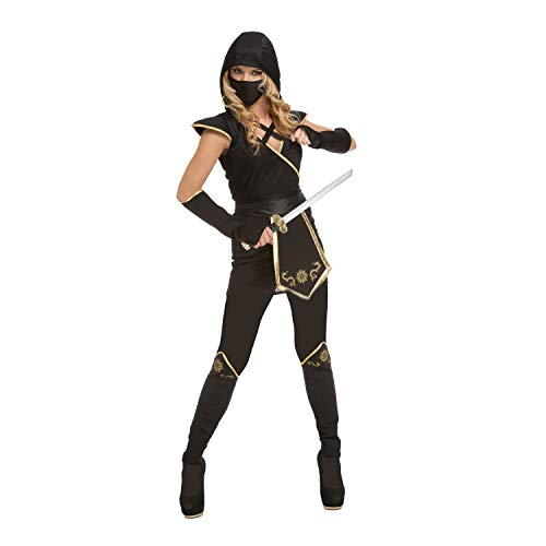 My Other Me Kostüm Ninja Damen, Schwarz (viving -