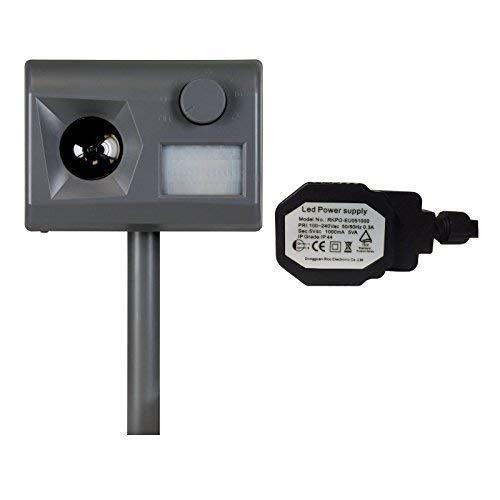 Weitech Garden Protector 3 - inklusive Outdoor Netzadapter - Ultraschall Tiervertreiber