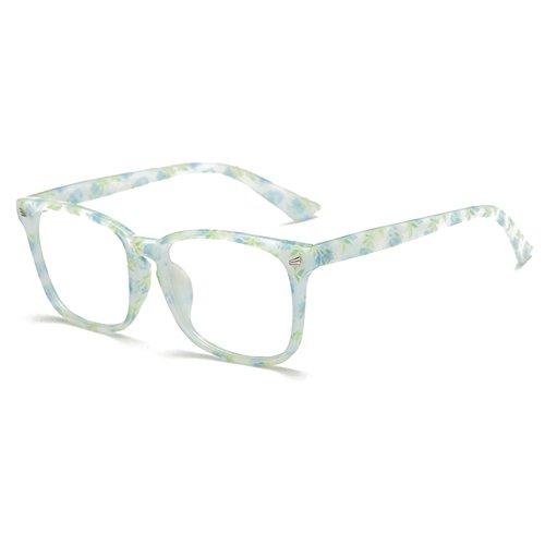 7fe65b42c77018 Brillen für Männer Frauen - Klare Linse Brillengestell + Brillen Fall -  Juleya   1228YJJ02