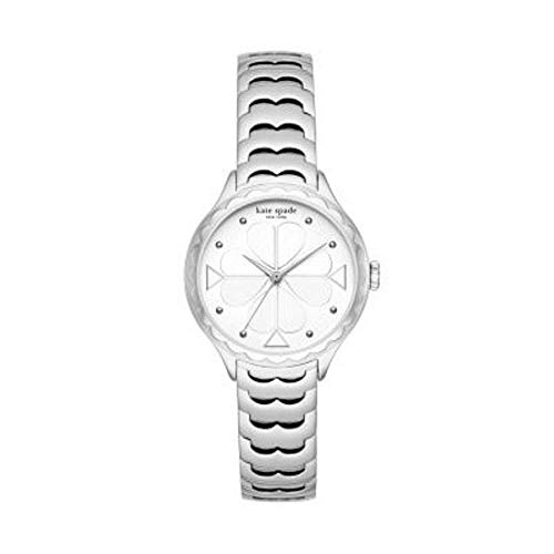 Reloj Kate Spade para Mujer en Acero Inoxidable Plateado y Esfera Blanca KSW1505