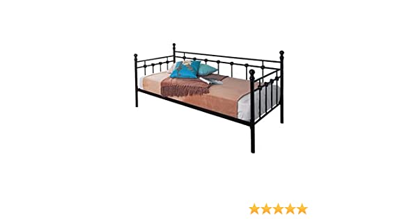 d3167a3399e1 Abigail Metal Day Bed in Black Finish: Amazon.co.uk: Kitchen & Home