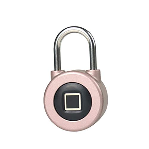 Nicolarisin Fingerabdruck-Vorhängeschloss, Bluetooth-Verbindung Metall wasserdicht, geeignet für Haustür, Koffer, Rucksack, Fitnessraum, Fahrrad, Büro, APP ist geeignet -