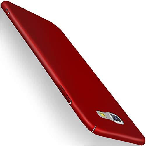 moex Samsung Galaxy A5 (2017)   Hülle Rot Alpha Back-Cover TPU Schutzhülle Dünn Handyhülle für Samsung Galaxy A5 2017 Case Ultra-Slim Thin Skin Handy Schutz Rückseite