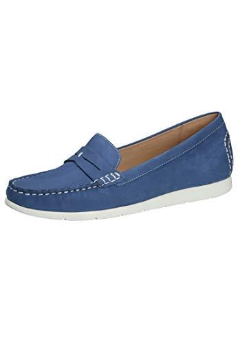 CAPRICE Damen Ettiene Mokassin, Blau (Jeans Nubuc 895), 38 EU