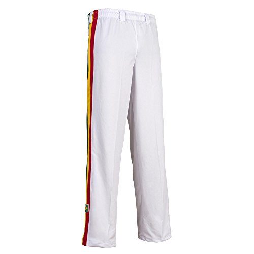 Original Brasilianische Capoeira Hose Unisex weiß Reggae Abada Martial Arts Elastische Pants. -
