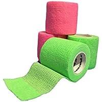 LisaCare Fixierbinde 5cmx4,5m | 2er Set 5cm Neongrün & Neonpink | Kohäsive Bandage | Wundverband | Pflasterverband... preisvergleich bei billige-tabletten.eu