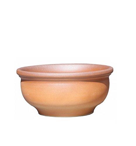 Pot the fleur coupe clair flammé Ø 45 x 22 cm - avec trou de drainage - Forme 011.045.20 - grès ceramique résistant au gel - La qualité de Hentschke Keramik
