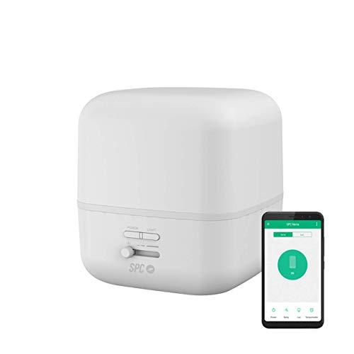 SPC Nerta - Difusor de aromas, humidificador, purificador de aire y lámpara de noche Smart Wi-Fi 400Ml...