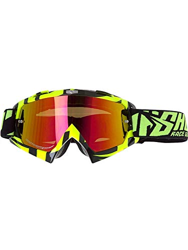 Shot Race Gear Volt Neongelb Motocross Goggle Iridium Gläser