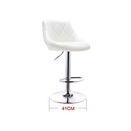 Guo shop- Coussins en cuir artificiel de tissu d'huile européenne bicolore peut être soulevée et abaissée Bar tournant chaise créative européenne tabouret de bar rétro Bonne chaise (Couleur : Blanc)
