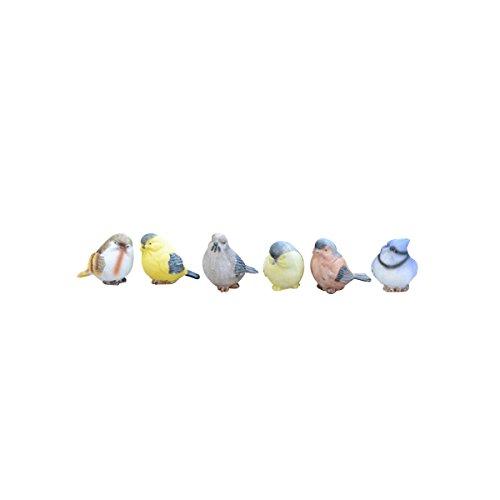 ounona resina pájaros artesanía Artisan Artware miniatura figura decoración de la casa jardín adorno 6piezas