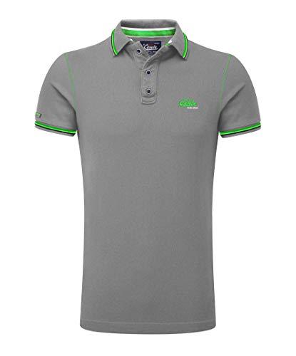 M.Conte Herren Poloshirt Kurzarm Stretch Polohemd T-Shirt Polo-Shirt Pique Basic Men's Plain Royal Blau M L XL XXL XXXL Romano (XXXL, Grau Melange) -