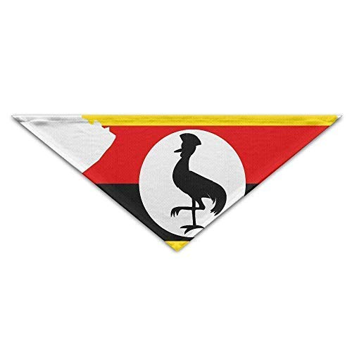 Gxdchfj Uganda Country Flag Triangle Pet Scarf Dog Bandana Pet Collars for Dog Cat - Birthday Bandana Bibs Triangle Head Scarfs Accessories