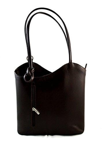 Bolso de piel mujer bolso de cuero mochila bandolera mochila de piel bolso  de espalda bandolera de piel marron oscuro 0e010600535a