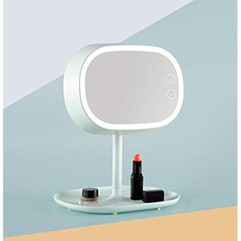 FWEF baño mesa lámpara maquillaje espejo mesa lámpara chica exclusiva preparación de espejo cálido lámpara de la mesilla noche regalo luz 216 * 176 * 255 m m , mint green