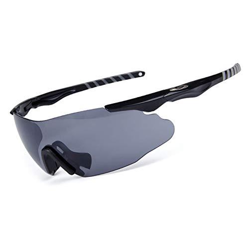 MaxAst Brille Winddicht Radsport Motorradbrille Vintage Sicherheitsbrille für Brillenträger Grau