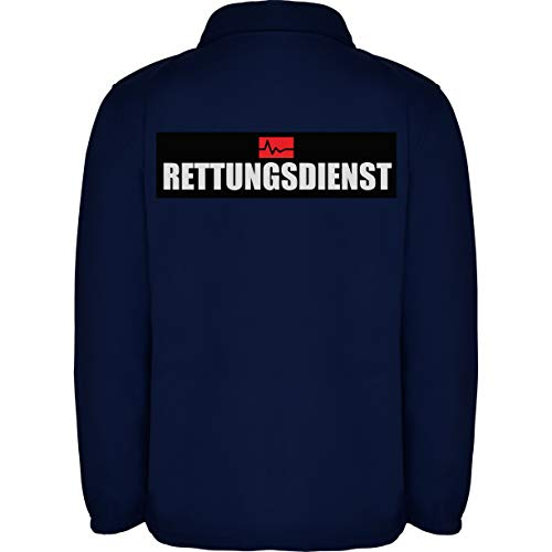 Rettungsdienst Herren Fleece Jacke Jacket Pullover Full Zip L17 navy blue (L)