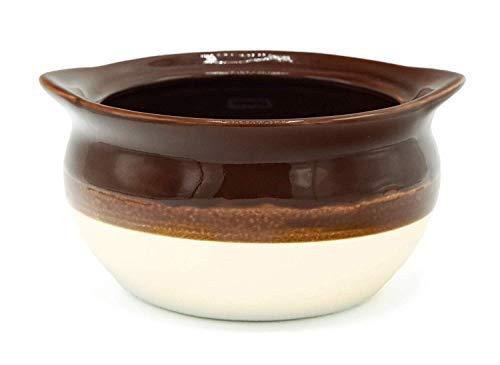 Suppenschale aus Porzellan, Braun/Elfenbein, mit Korkuntersetzern, 4 Stück 18 oz braun/elfenbeinfarben 18 Oz Chowder Bowl