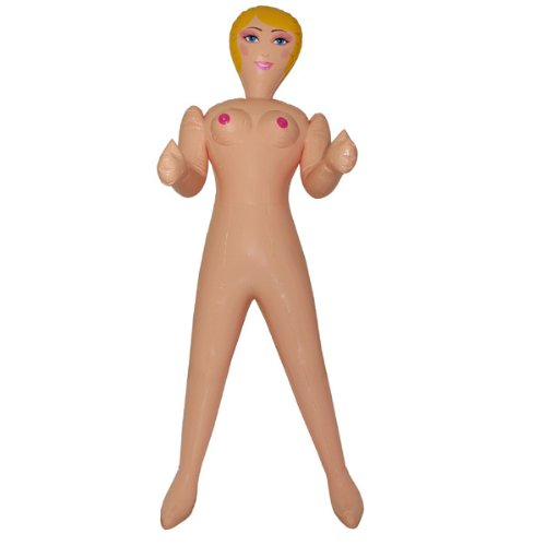 PARTY DISCOUNT NEU Aufblasbare Frau, blond 150 cm