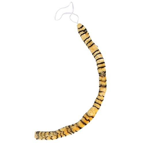 SODIAL(R) Neue Tier langen Schwanz Cosplay Weihnachten Halloween Kostuem Zubehoer (Tiger Druck)