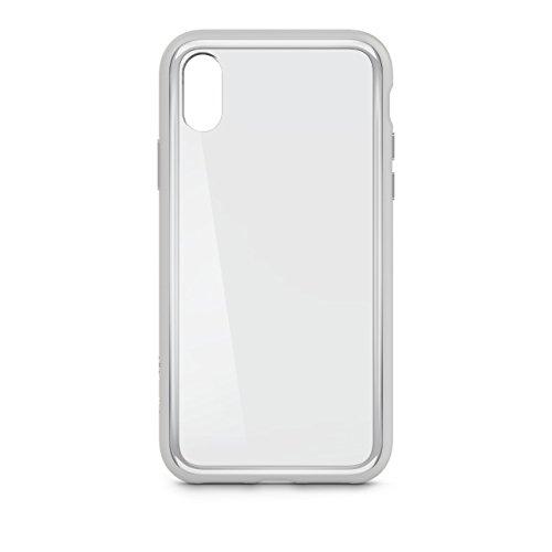 Belkin SheerForce Elite Schutzhülle (Polycarbonat, Sturzsicherheit, Anschlüsse frei zugänglich, geeignet für iPhone X) silber