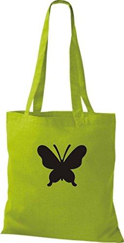 ShirtInStyle Stoffbeutel Schmetterling Butterfly Libelle Käfer Marienkäfer Kult kiwi