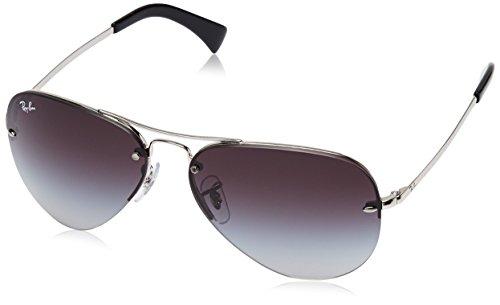 Ray-Ban Unisex Sonnenbrille Rb 3449 Gestell: Silber, Gläser: Grau Verlauf 003/8G), Large (Herstellergröße: 59)